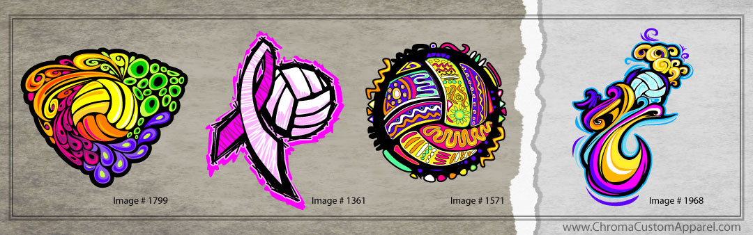 Colorful Volleyball Designs