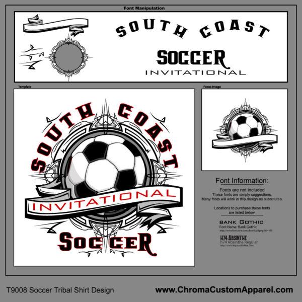Soccer Tribal Shirt Template