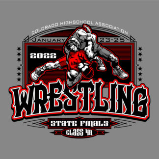 State Wrestling Shirt Design