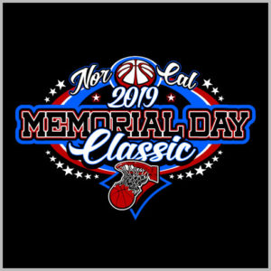 Memorial Day Basketball Design