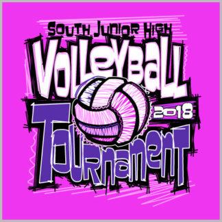 Pink Volleyball Shirt