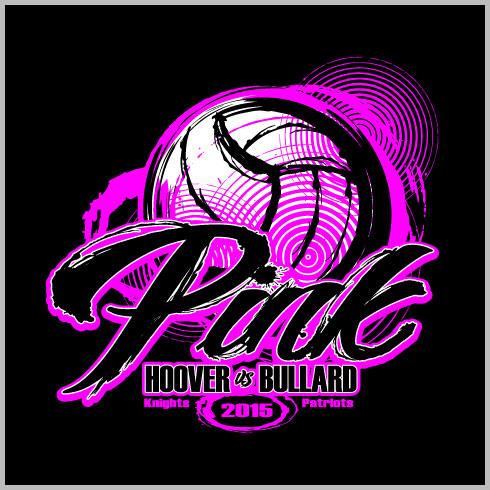 Dig Pink Volleyball T-Shirt Design