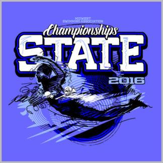 Custom T Shirt Designs | State Swimming Shirt