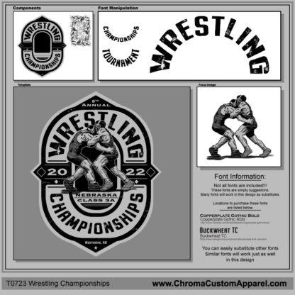 Wrestling Championships Shirt Design | Design Template