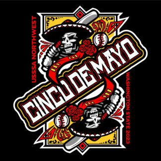 Cinco De Mayo Baseball Design