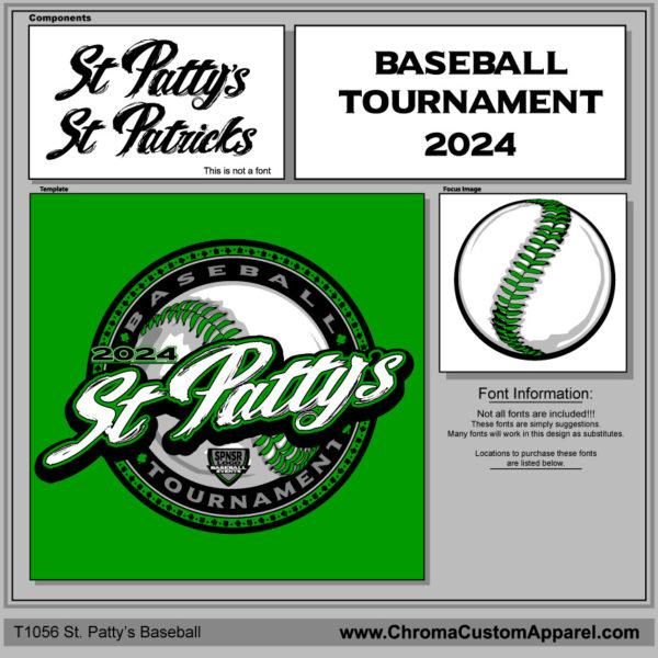St Patricks Baseball Design