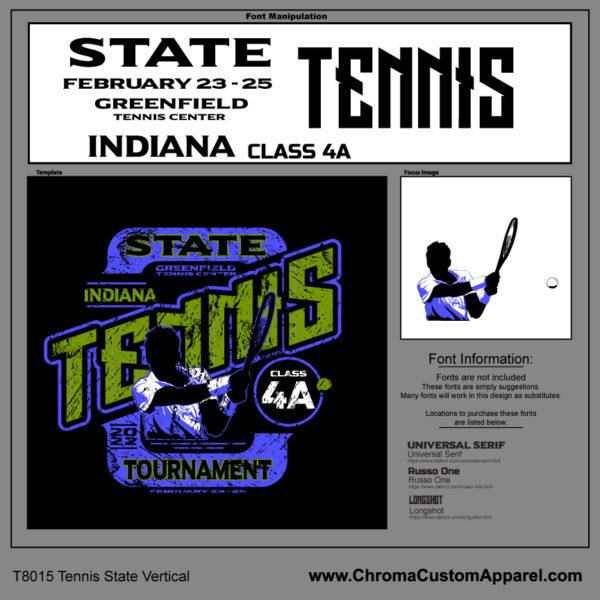 State Tennis Shirt Template